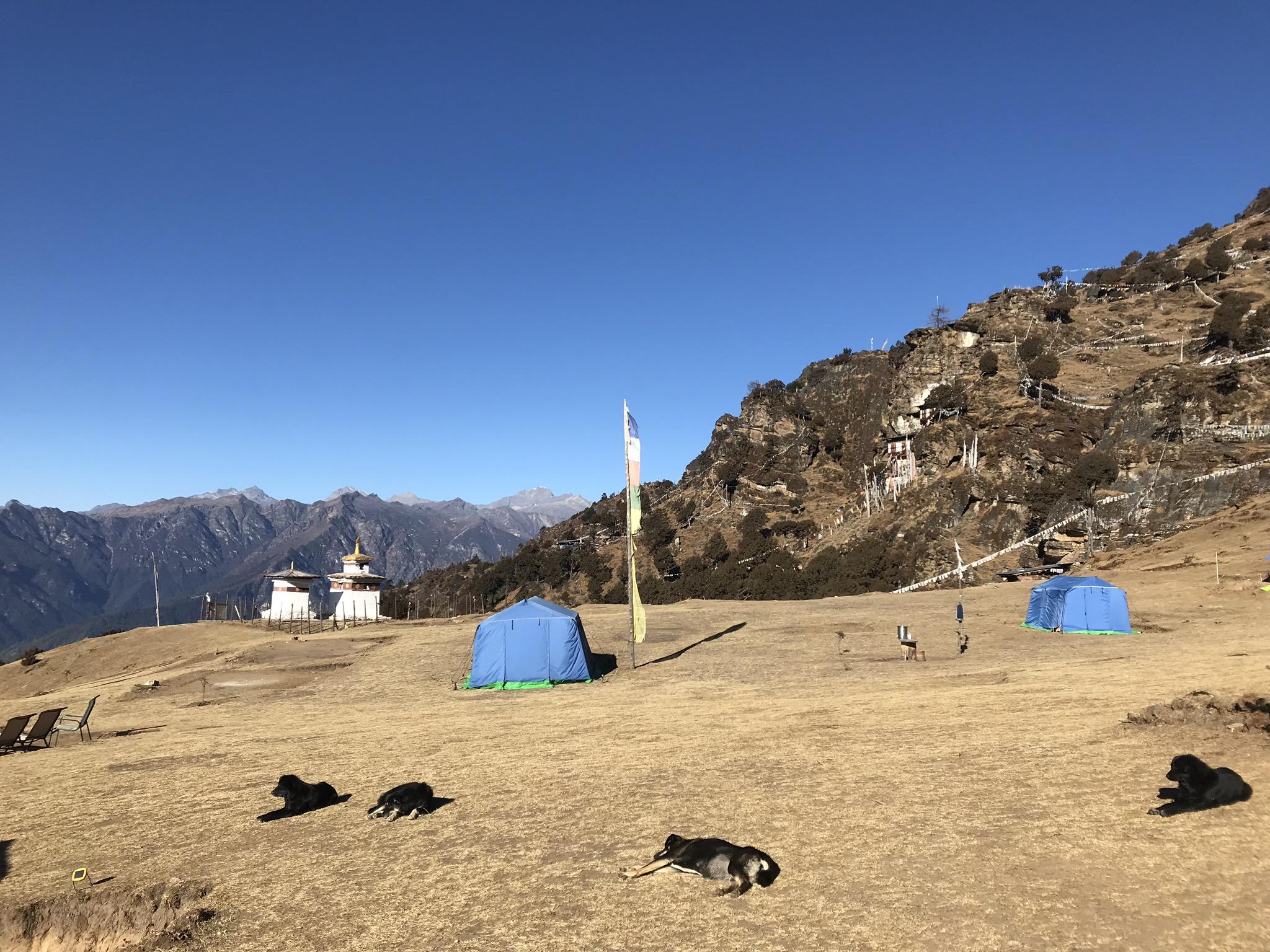 不丹Bumdra Trek營地