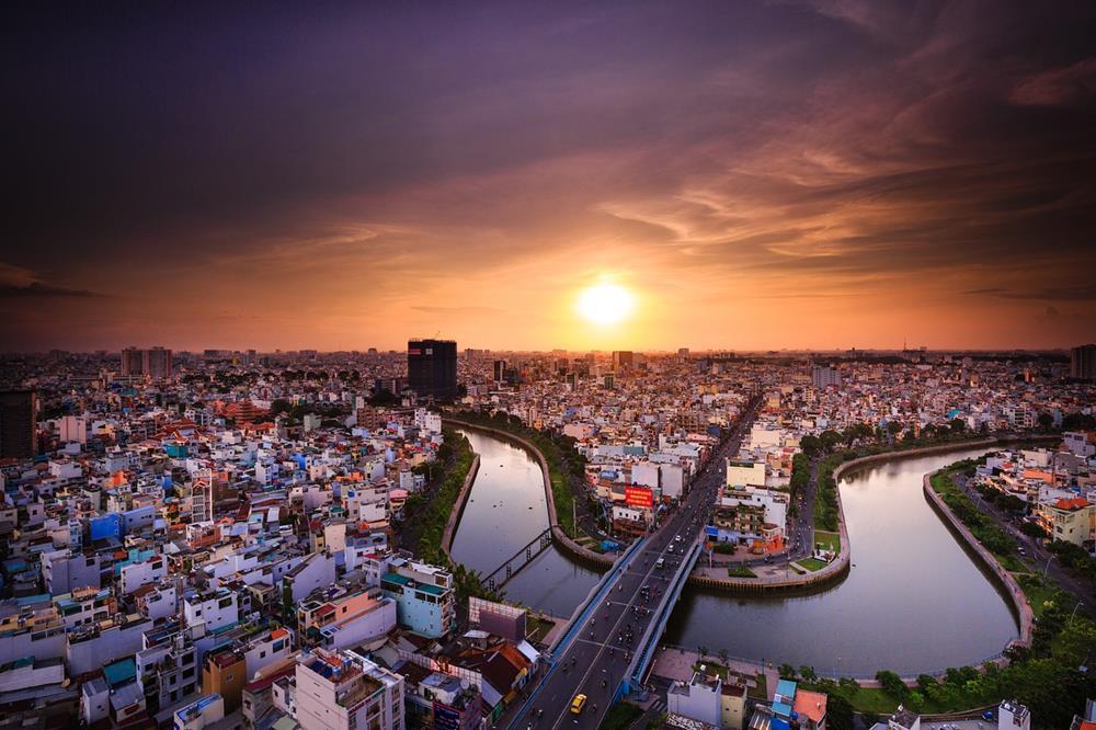 胡志明市-夕陽