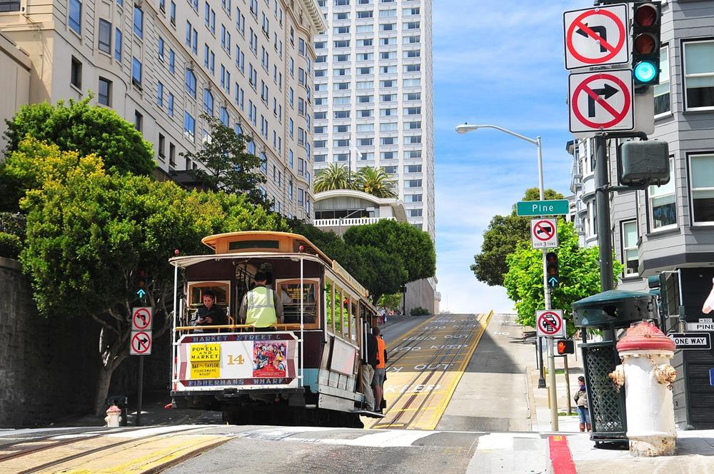舊金山-叮叮車-復古電車