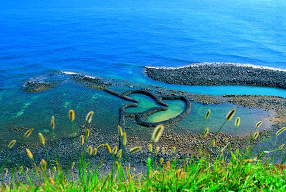 澎湖景點-雙心石滬